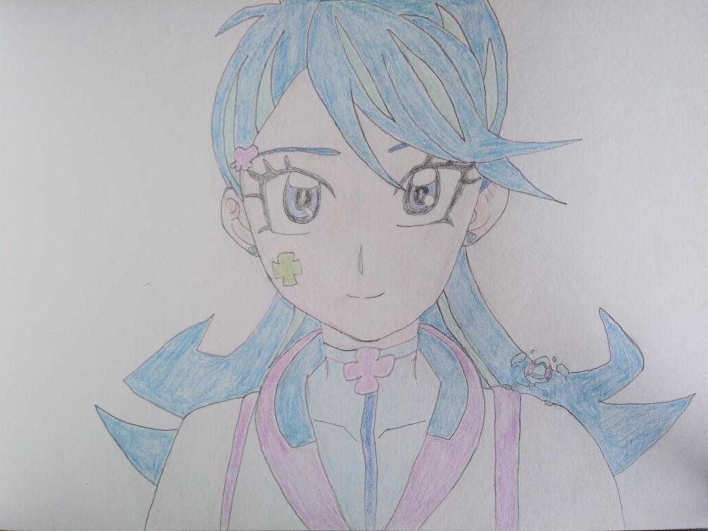 Yu-Gi-Oh! VRAINS Blue Girl/Aoi Zaizen and Aqua by