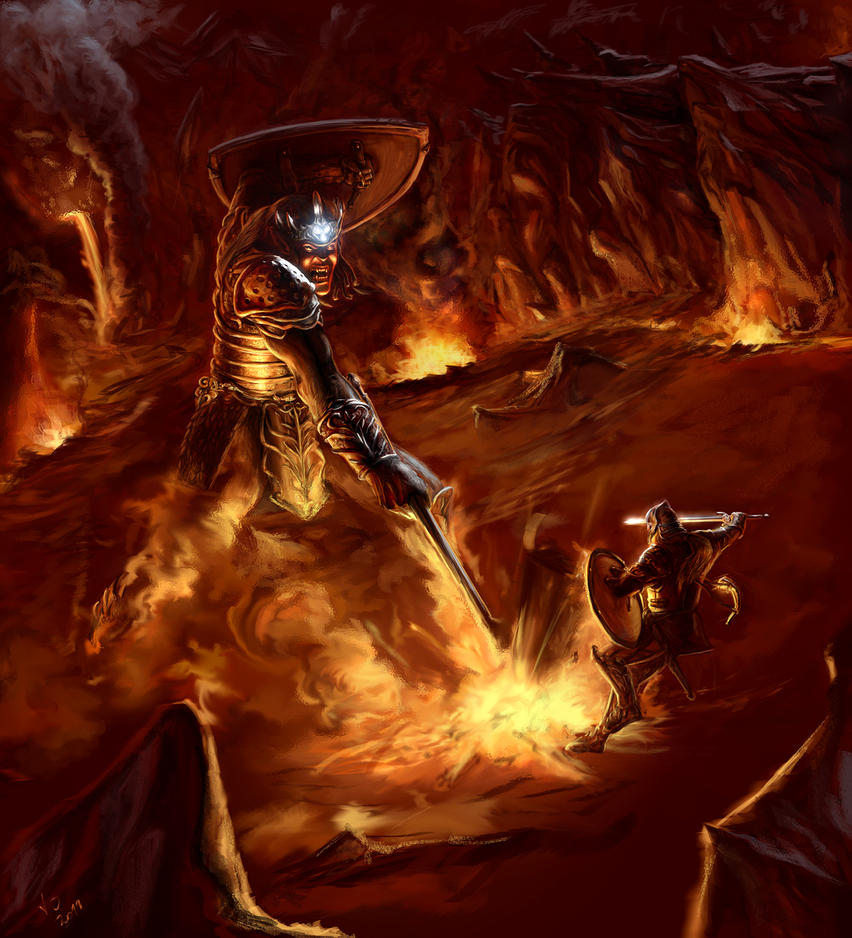 Melkor vs Fingolfin by Jossand