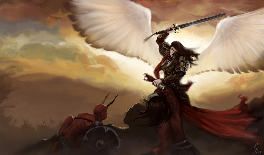 demons and angels fighting - photo #2