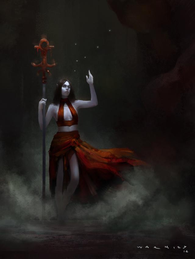 Red Staff by Warmics