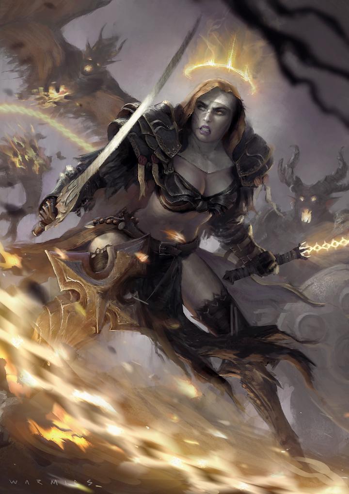 Heretica - Sister Saphia Adv by Warmics