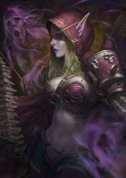 Sylvanas Windrunner with Timelapse Link by Warmics