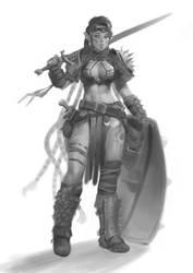 Concept - Female Warrior 1 by Warmics