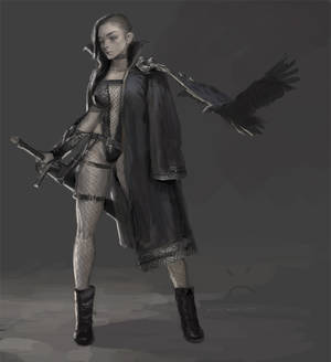 Goth Girl Sketch
