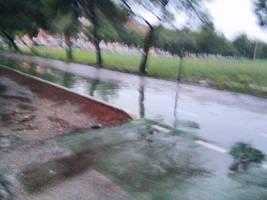 Parco San Felice sotto la pioggia