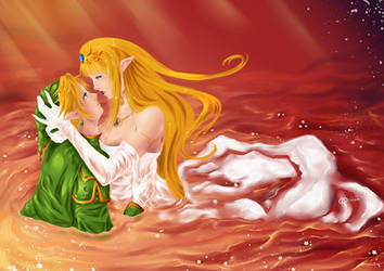 Link and Zelda's Valentine's Day by Valleyquail