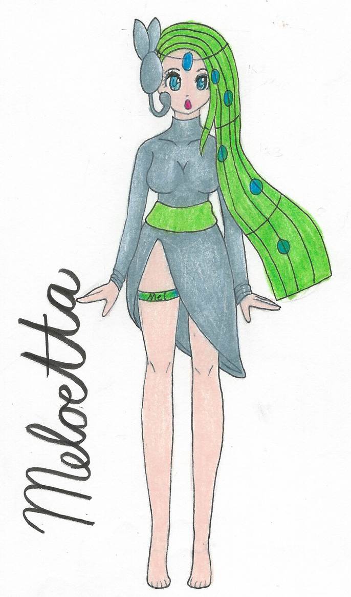 Meloetta Gijinka by ChickenTenderssss on DeviantArt