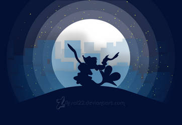 Primarina Silhouette - sing under the moon