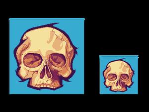Pixel art Skull