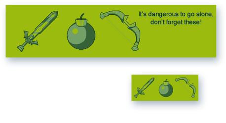 Zelda itemset (pixelart)