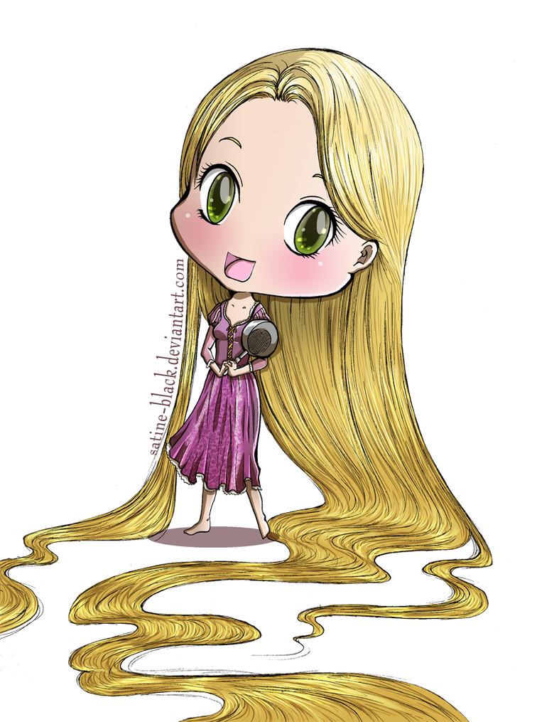 Tangled - Rapunzel Chibi by Satine-Black