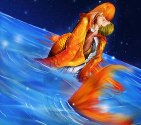 Goldfish Kiss by Satine-Black