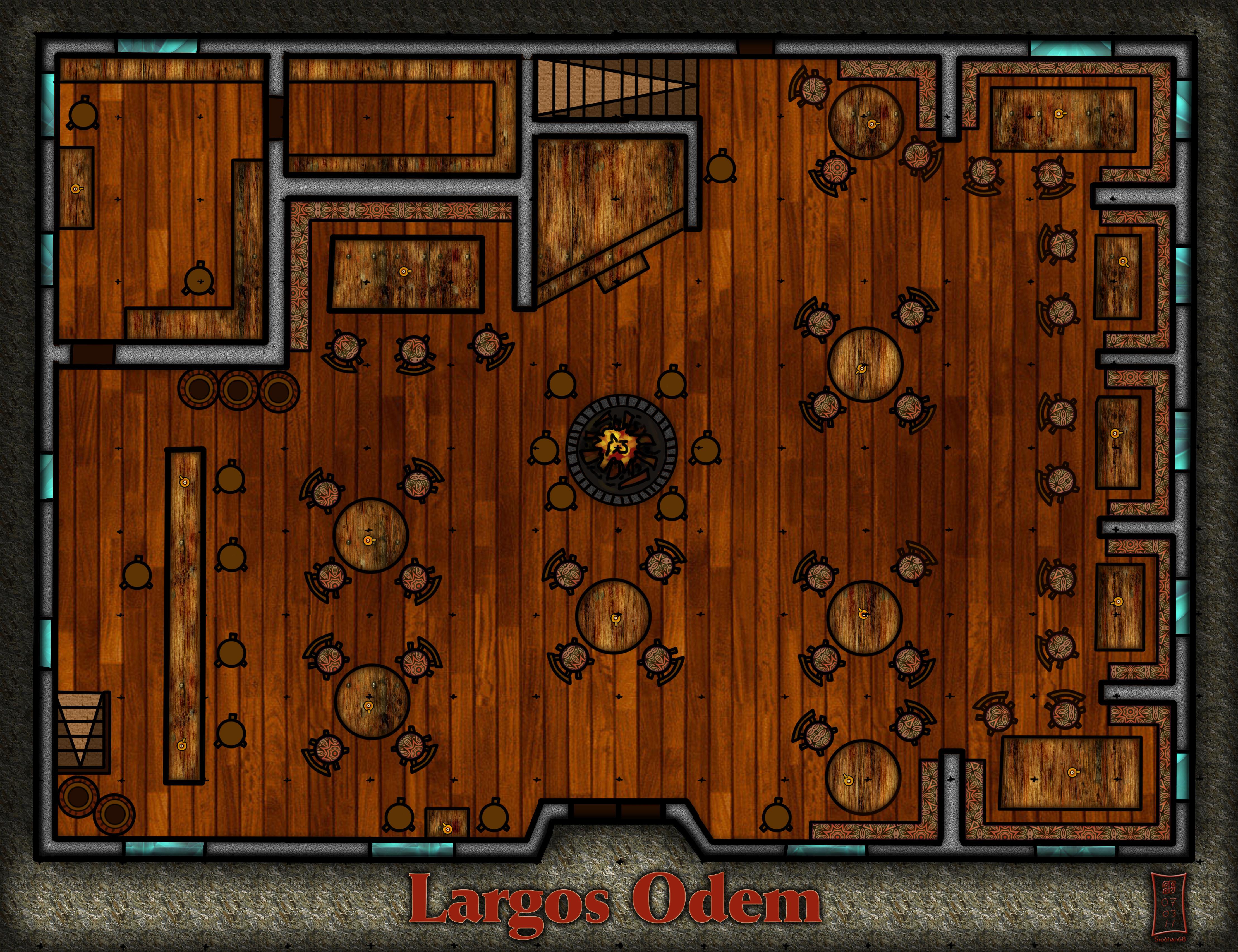 Largo 39 S Odem Tavern Floorplan By Siobhan68 On Deviantart