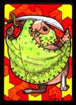 Bellydancing Piggie ACEO 41