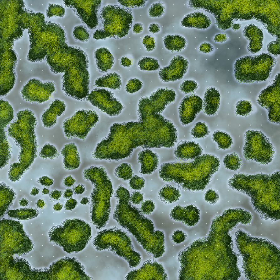 how to draw swamps on a map