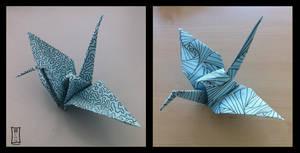 Painted Origami Cranes