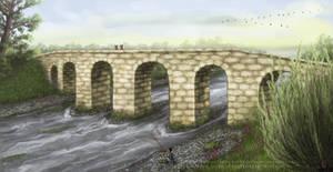 Roman Bridge Crossing The Erft