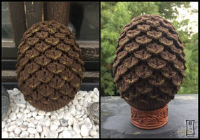 Brown Crochet Dragon Egg