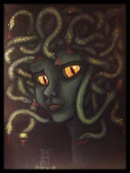 Sad Medusa Acrylic Painting