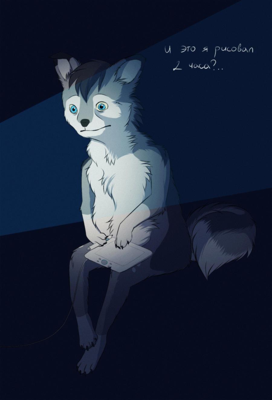 taxidermy fox [flash mob] by Sidgi