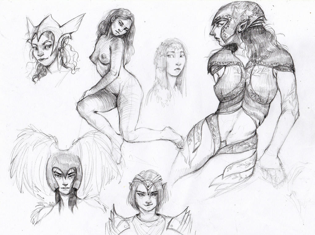 Sketches by ALEXAst