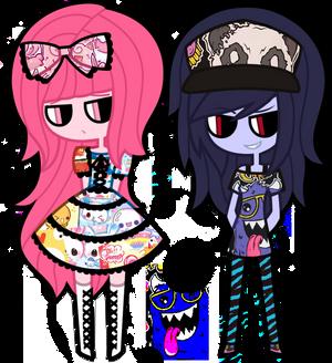 Marceline + Princess Bubblegum