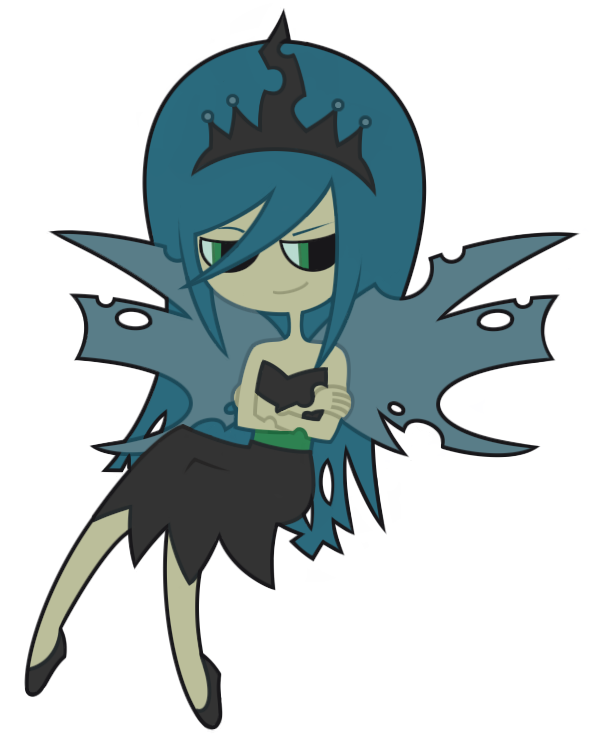 Chrysalis the Changeling Queen by nekozneko