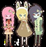 Princess Bubblegum, Fionna and Marceline