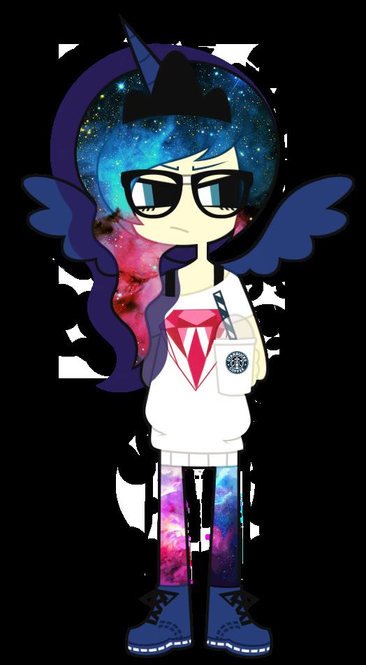 MLP FiM : Hipster Princess Luna by nekozneko