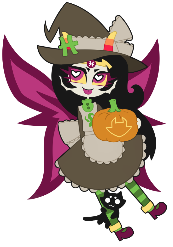 (Homestuck) Feferi Peixes : Happy Halloween ! by nekozneko