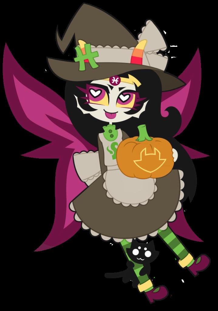 (Homestuck) Feferi Peixes : Happy Halloween ! by nekozneko