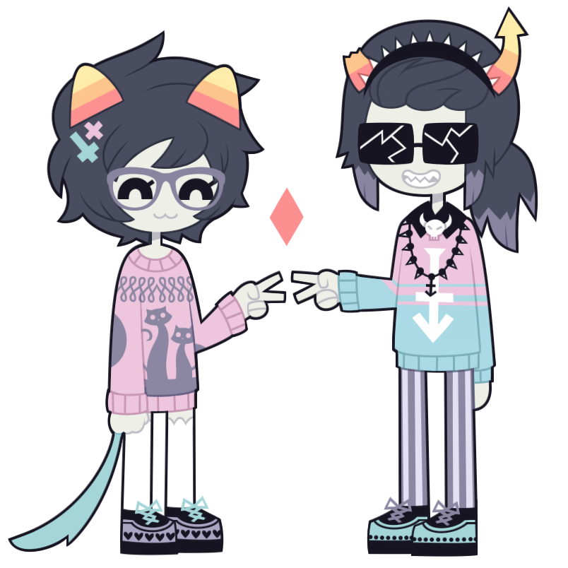 Nepeta Leijon and Equius by nekozneko