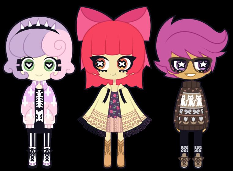 The Cutie Mark Crusaders by nekozneko