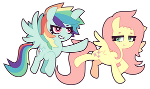 MLP FiM : Rainbow Dash and Fluttershy