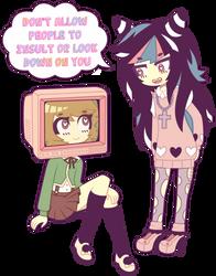 Alter Ego and Ibuki Mioda by nekozneko
