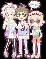 SDR2: Komaeda, Hinata and Nanami by nekozneko