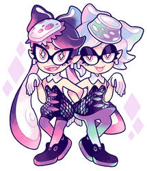 Splatoon: Squid Sisters by nekozneko