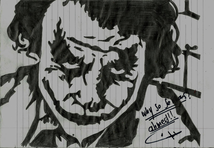 why so seriousjoker by ahmeda73 on deviantart