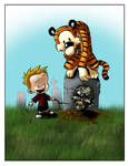Calvin and Hobbes and a Zombie