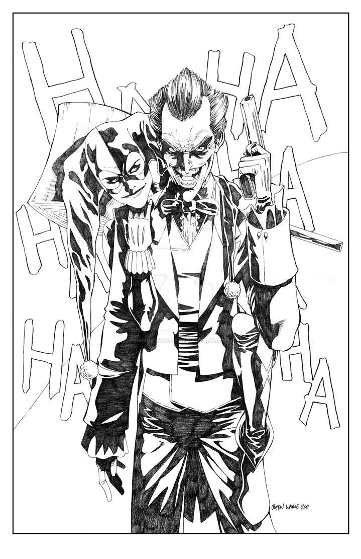 Joker Scribble Drawing : Joker and harley quinn by mydyingrose on deviantart