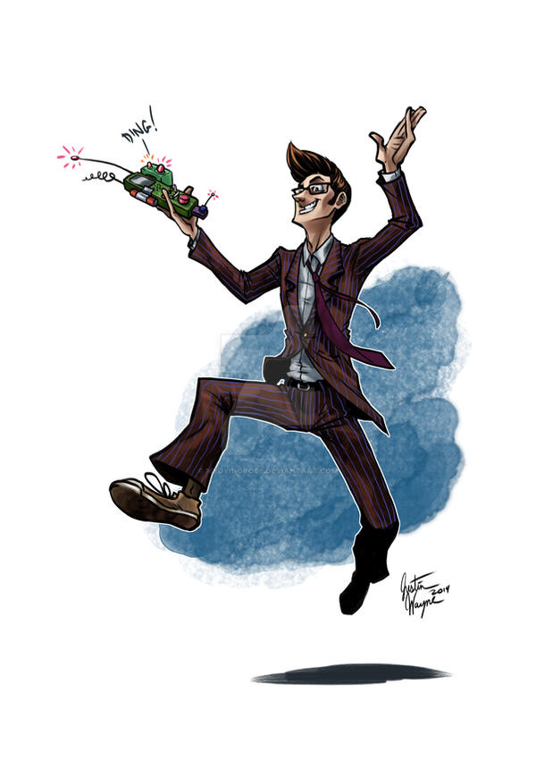 The Doctor and His Marvelous Ding Machine by MyDyingRose