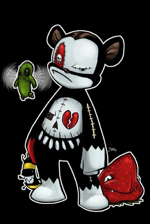 Deady the Grumpy Teddy by MyDyingRose