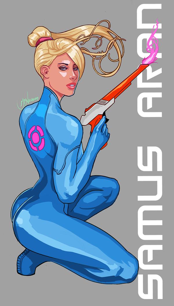 Samus Aran Zero Suit by GreenStranger