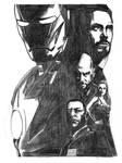 Iron Man Movie Poster Pencil