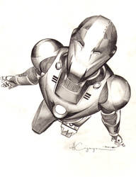 Ultimate Iron Man Pencil 1 by ncajayon
