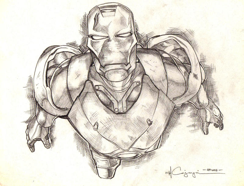 Ironman Drawings In Pencil Iron man pencil 4 by ncajayon Iron Man Pencil Drawings