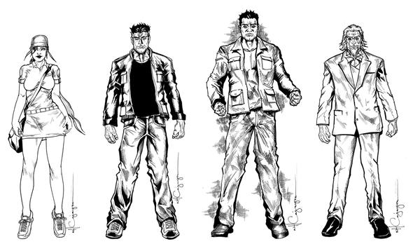 Character Design Group : Character design group inks by ncajayon on deviantart