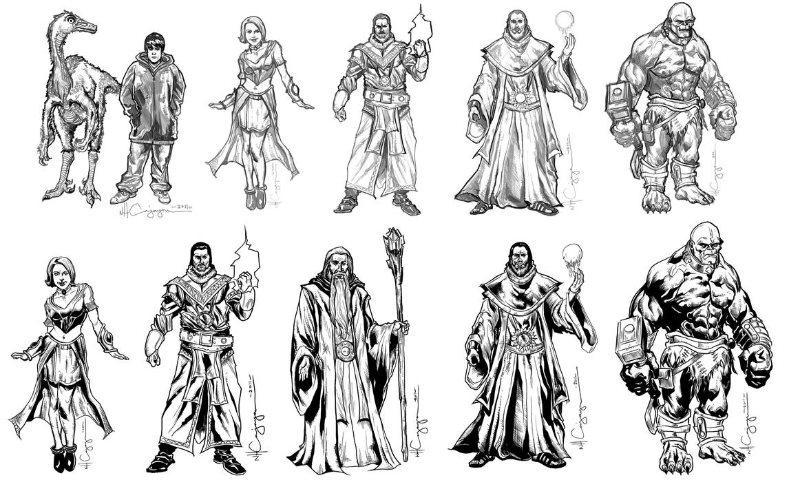 The Art Of Character Design Volume I : Fantasy character design set by ncajayon on deviantart