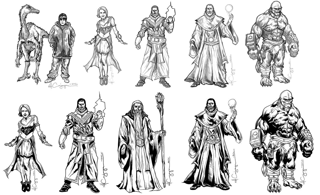 Fantasy Character Design Sheet : Fantasy character design set by ncajayon on deviantart