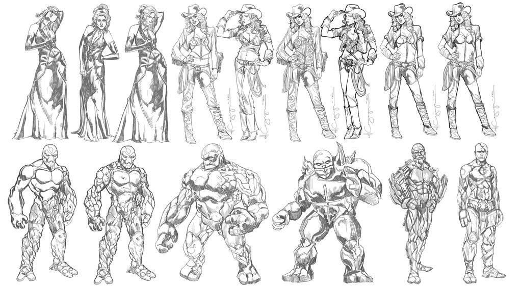Character Design Set : Fantasy character design set by ncajayon on deviantart